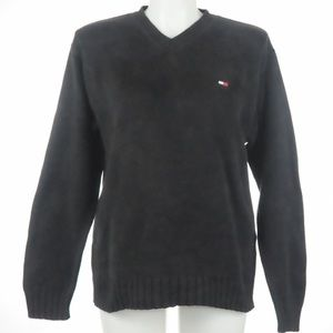Tommy Hilfiger - Black V Neck Sweater - Size L